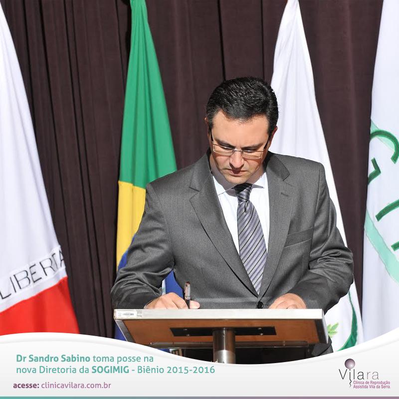 Dr. Sandro Sabino toma posse da nova Diretoria da SOGIMIG