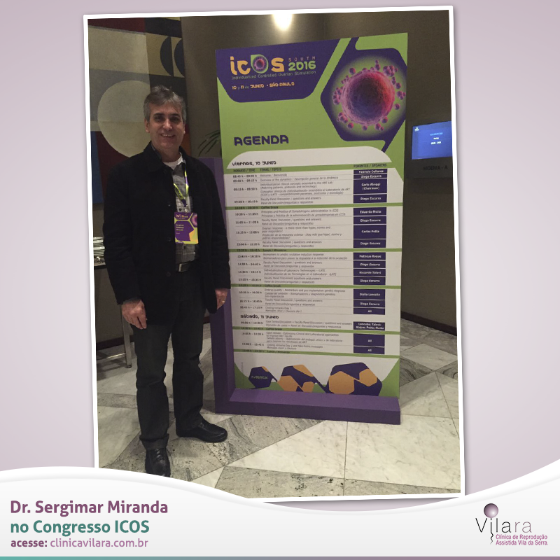 Dr. Sergimar Miranda no Congresso ICOS – Individualized Controlled Ovarian Stimulation