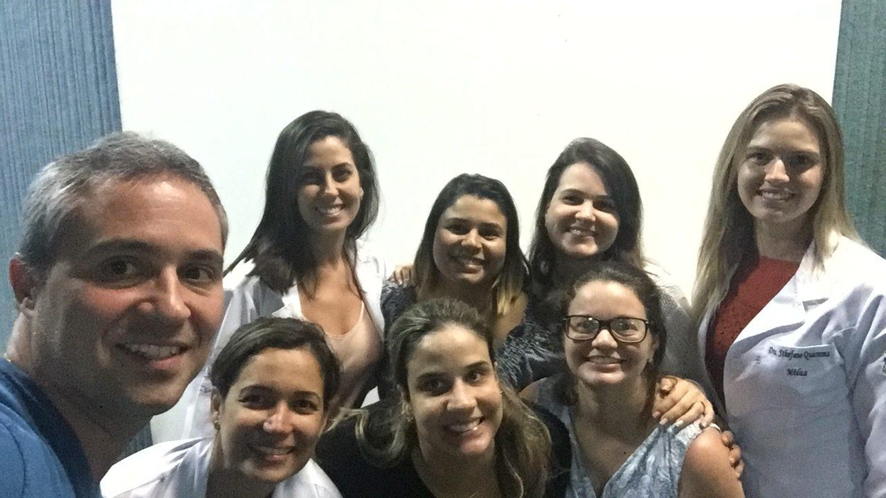 Aula com residentes da Ginecologia e Obstetrícia do Hospital Vila da Serra